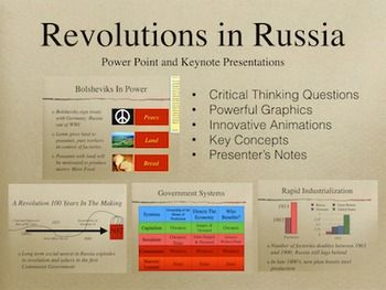 revolutions in russia powerpoint keynote presentations the history