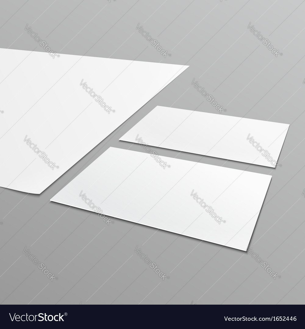 Blank Stationery Layout A4 Paper Business Card With Regard To Blank Busi Blank Business Cards Business Card Templates Download Business Card Template Photoshop