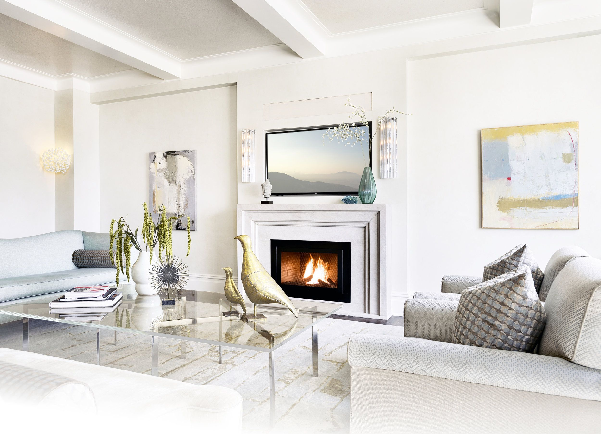50 stylish neutral hued rooms stone fireplaces neutral and decorating