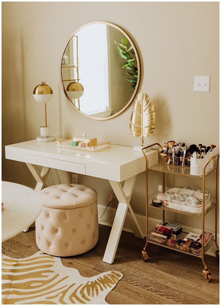 Photo of Spare Mattress room Transformed Into Glam Office  Haute Off The Rack – World Best #Diy Blogs