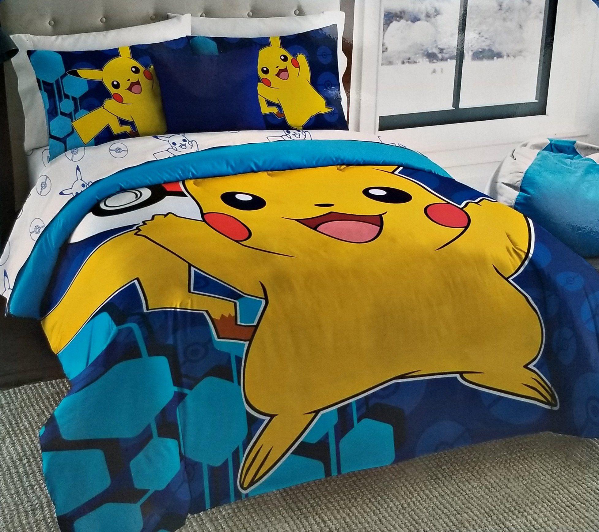Pokemon Go Pikachu 5pc Full Size Comforter And Sheet Set Check