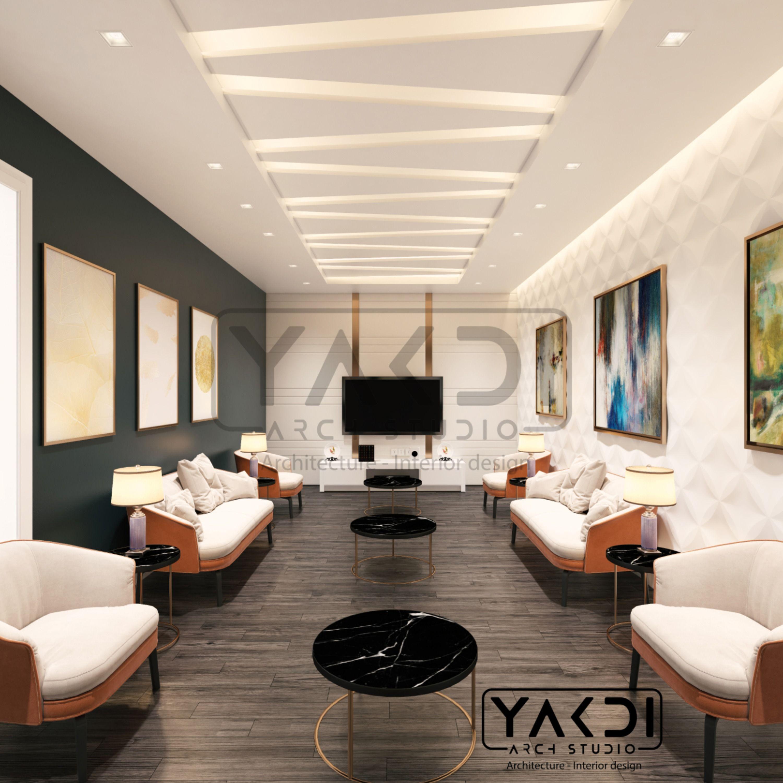 Modern Women Majlis محلس نساء Ceiling Design Living Room Interior Architect House Ceiling Design