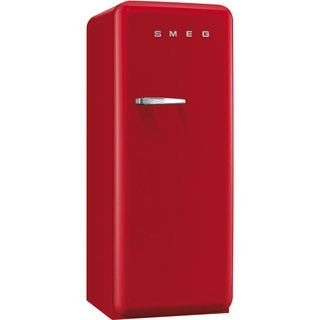 Smeg FAB28URDR1 50s Style 9.2 Cubic Feet Red Right-hand Refrigerator with Freezer Compartment