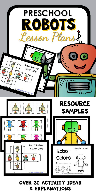 Robot Theme Preschool Classroom Lesson Plans Preschool Teacher 101 Robots Preschool Robots Preschool Theme Robot Classroom [ 3000 x 1500 Pixel ]