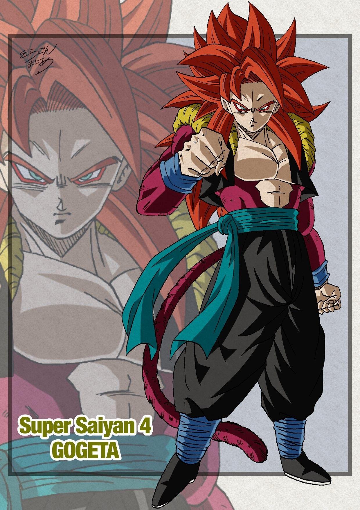 Gogeta Super Saiyajin Fase 4 Personajes De Dragon Ball Dibujos Vegetto Y Gogeta