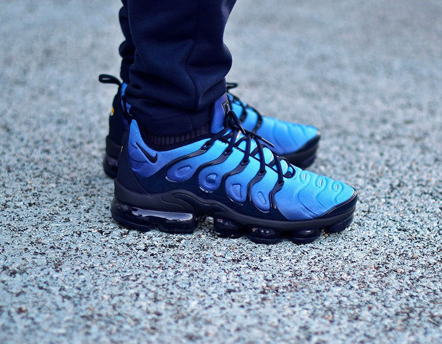 the best attitude d262f a0dea NIKE AIR VAPORMAX PLUS OBSIDIAN BLUE & BLACK SNEAKERS ALL ...