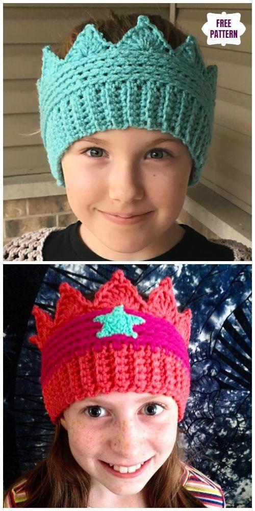 Crochet Baby Crown Ear Warmer Free Crochet Pattern Häkeln Pinterest
