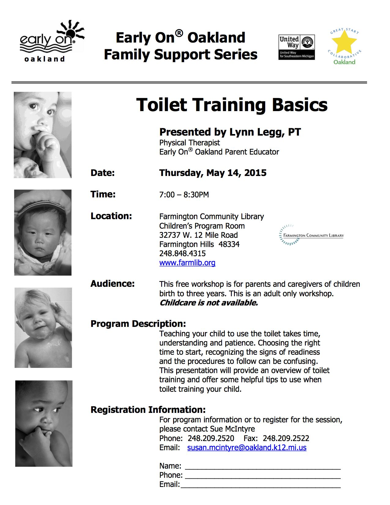 Teaching your child to use the toilet takes time, understanding and patience. Choosing the right time to start, recognizing the signs of readiness and the procedures to follow can be confusing. Need help, join us!