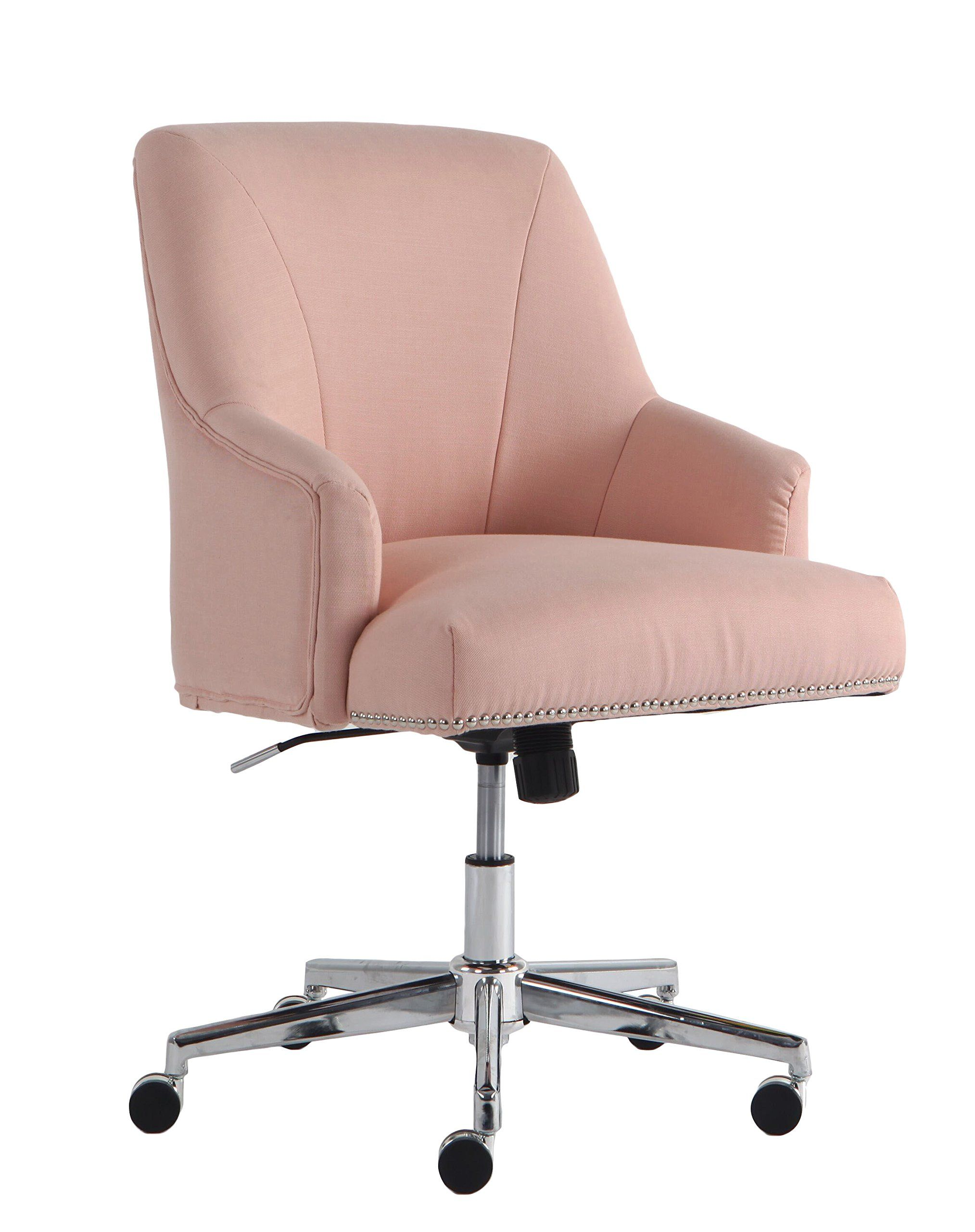 Serta Style Leighton Home Office Chair Twill Fabric Blush Pink Learn More By Visiting The Image Li Home Office Chairs Office Chair Design Pink Office Chair