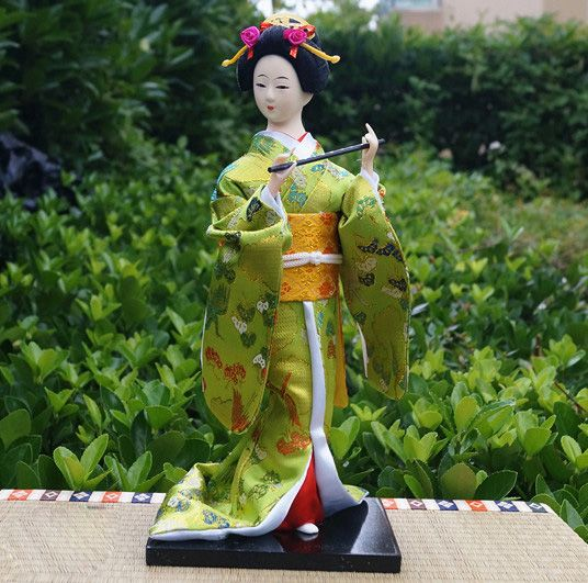 12'' Traditional Japanese Geisha Doll Kabuki Kimono Girl GEIKO-Geisha 51                                                                                                                                                                                 Más