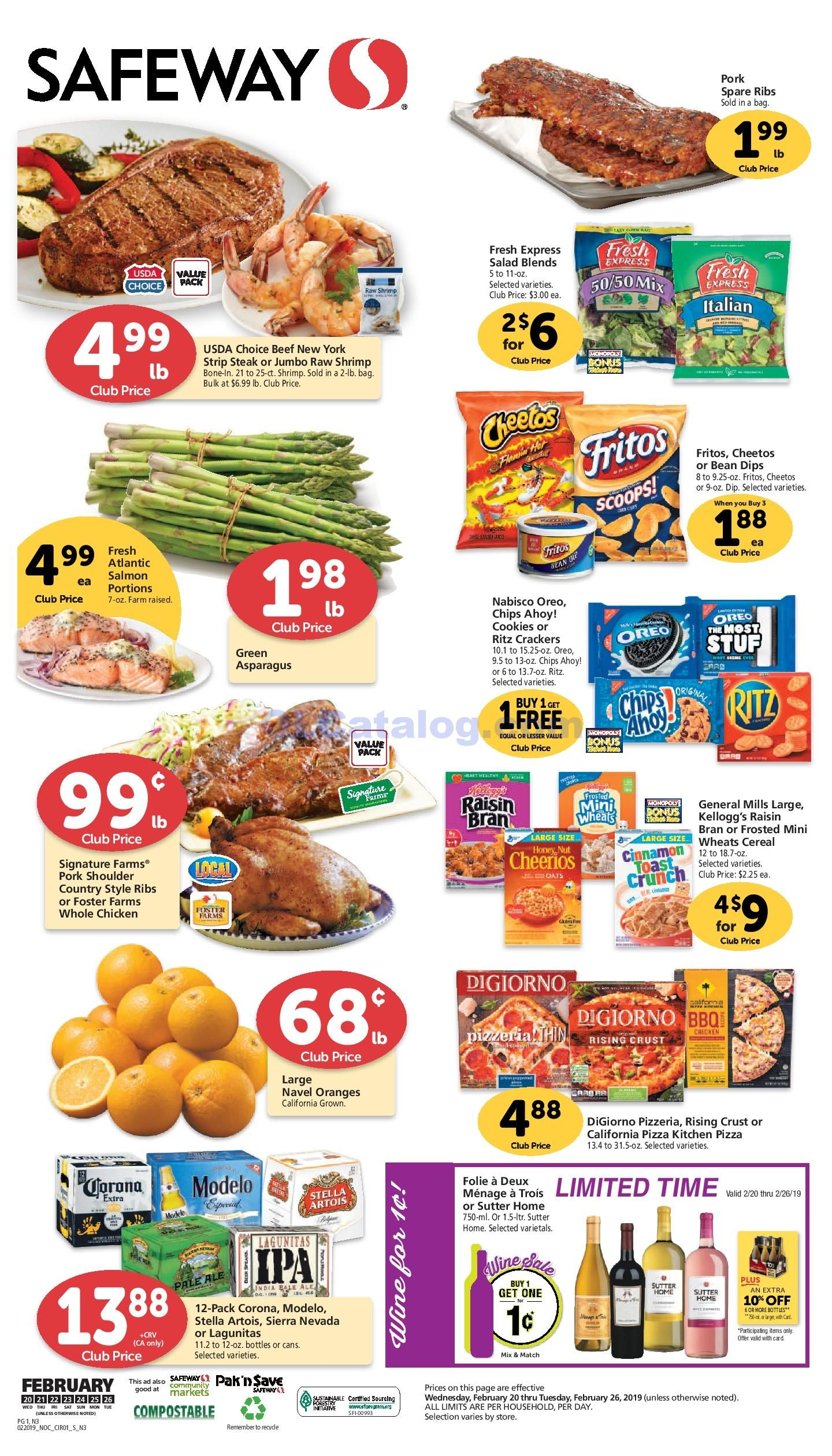 Safeway Weekly Ad 03/25/20 03/31/20 Sneak Peek Preview