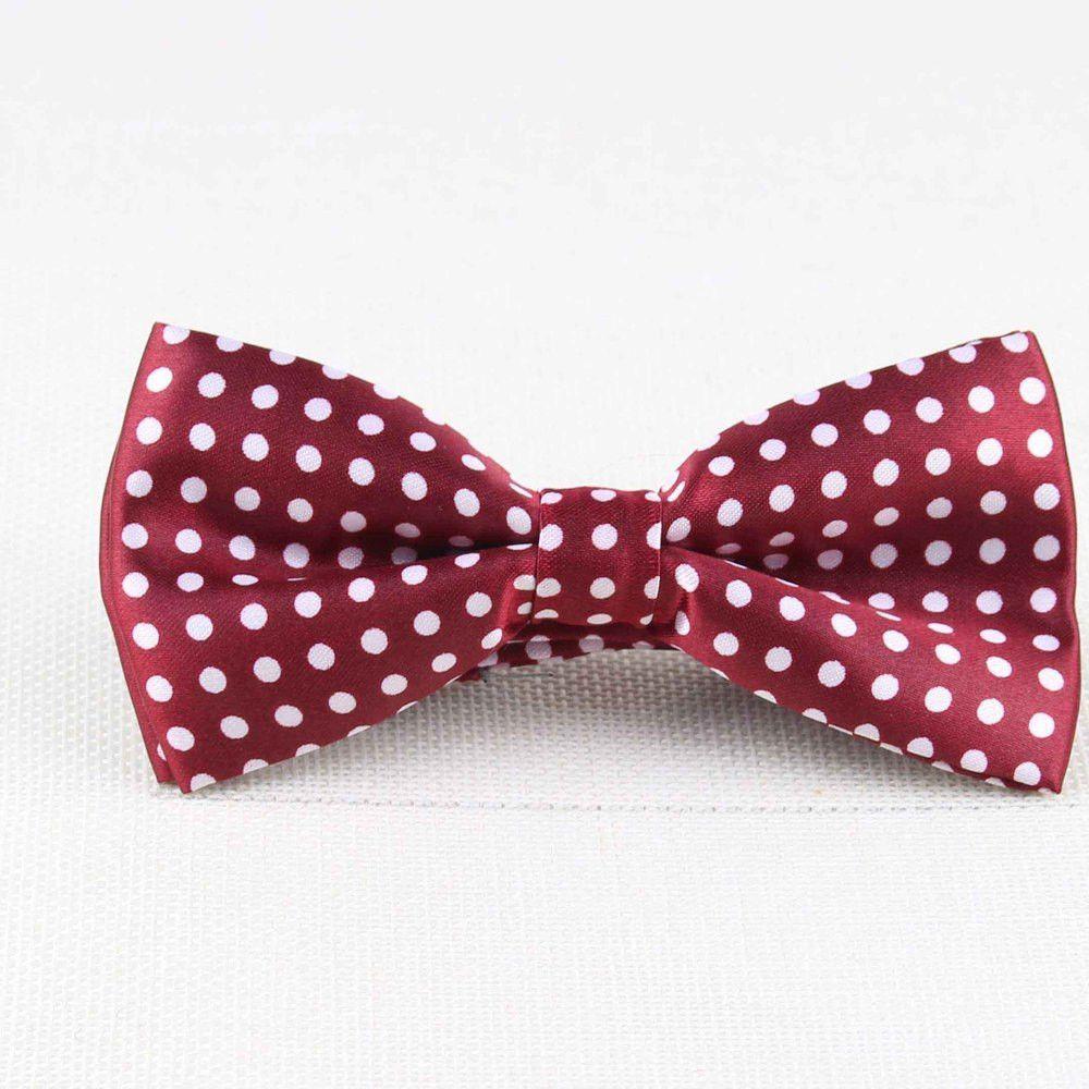 Flexible Bowtie Smooth Necktie Soft Matte Butterfly Decorative Pattern Solid