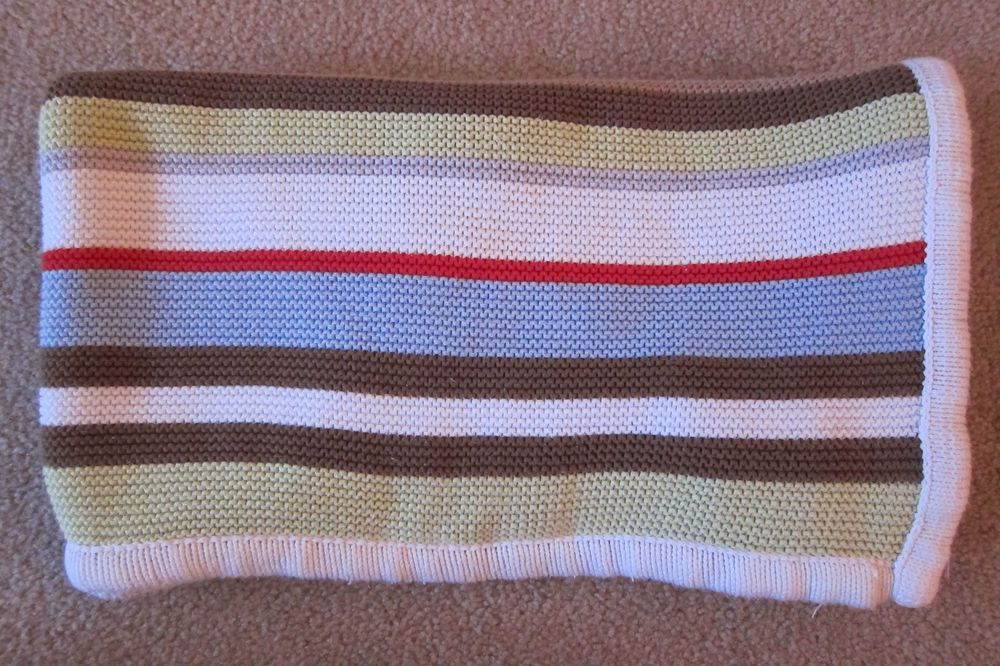 Striped Woven Sweater Knit Baby Blanket Hooray Rowley White Blue Brown Green Hooraycynthiarowleybabiesrus Knitted Baby Blankets Woven Sweater Woven