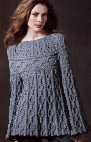 Women\'s Cable Knit Boatneck Sweater 21C | Dos agujas, Tejido y Remera