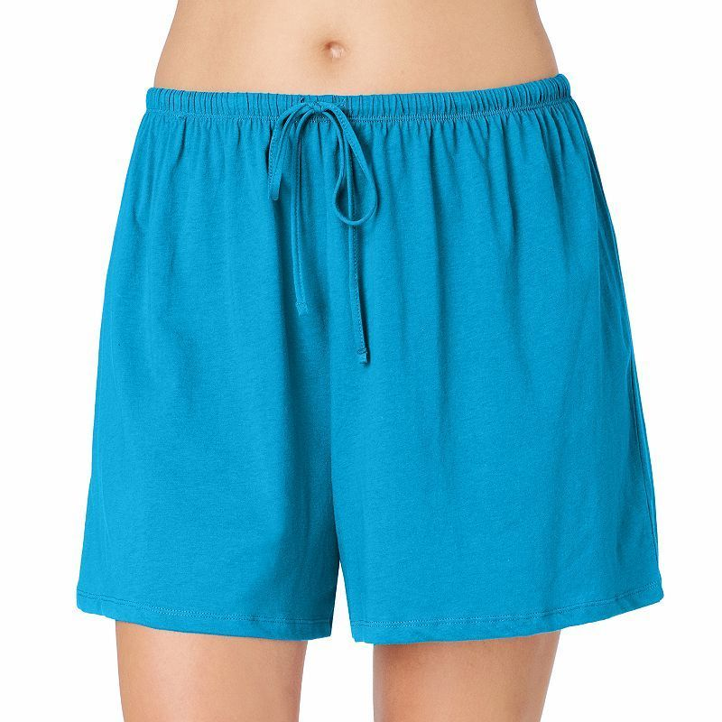 Plus Size Jockey Pajamas: Modern Cotton Pajama Shorts, Women's, Size: 3XL,  Drk Purple