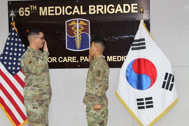 Ki Suk Eum A Patient Administration Specialist With The 65th Medical Brigade Had Dream To Become Officer In United States Army