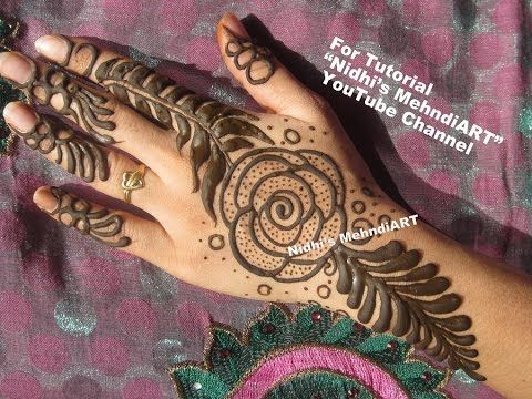 Mehndi Designs Rose : Youtube #stunning #rose #flower #gulf style #henna #mehndi #design