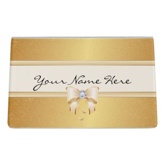 Funky distressed gold gradient pretty bling bow desk business card funky distressed gold gradient pretty bling bow desk business card holder reheart Gallery