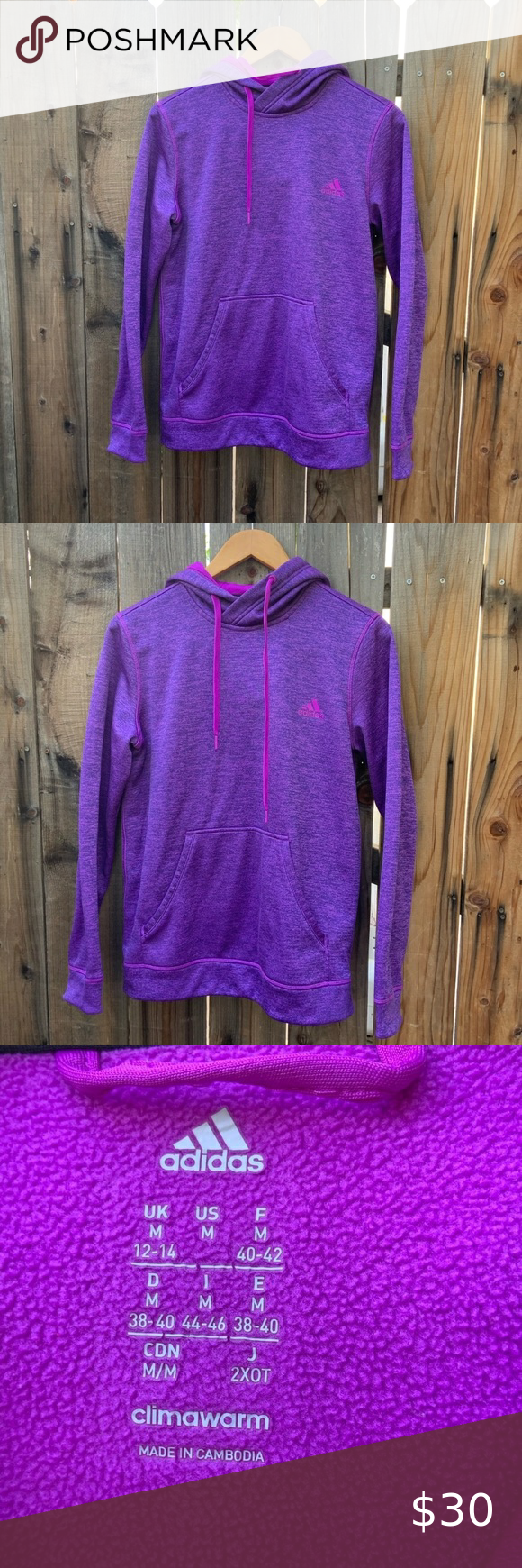 Purple Adidas Sweater With Hoodie Sz Medium Purple Adidas Sweater With Hoodie Size Medium Perfect Condition Feel Free To Ask Adidas Sweater Hoodies Sweaters [ 1740 x 580 Pixel ]