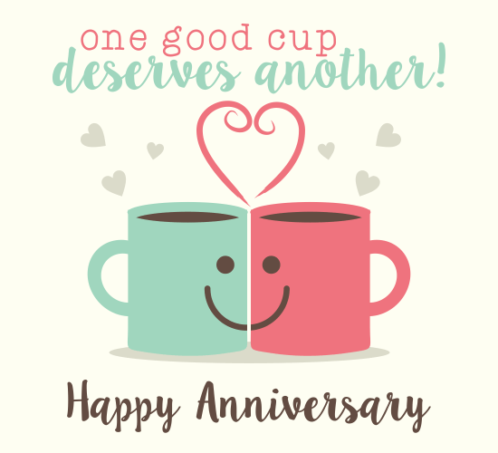 Happy anniversary printable card Customize add text and photos – Free Printable Anniversary Cards for Her