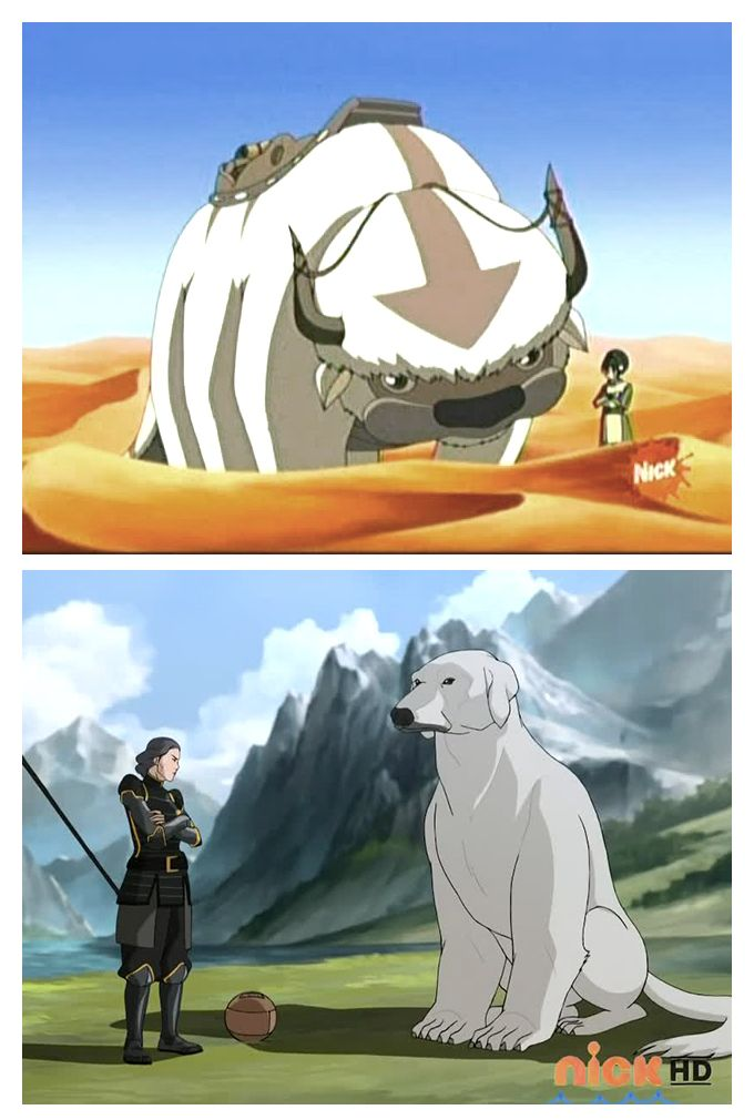 Beifongs With Animal Friends Avatar Last Air Bender Toph And Appa