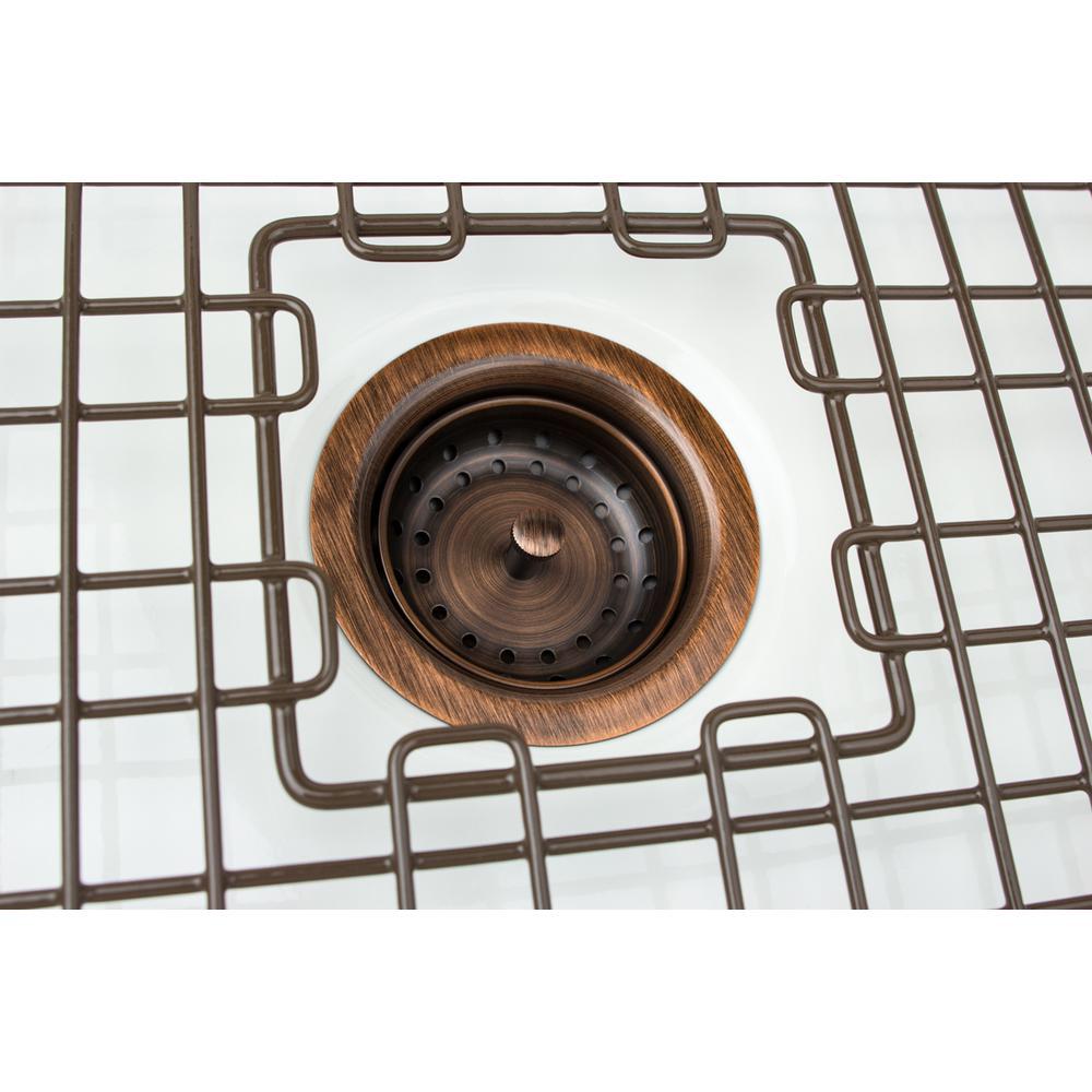 Sinkology Sinksense Kitchen Sink 3 5 In Strainer Drain With Post Styled Basket In Antique Copper Tb35 01 The Home Depot Kitchen Sink Sink Drain Sink Basket