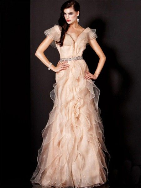 sheath sweetheart long peach chiffon draped bridesmaid evening