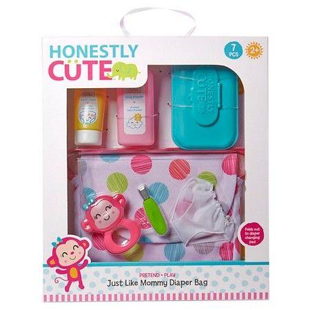 Honest Co baby shower set of 5 Giraffe print diapers for Reborn baby doll