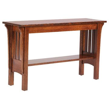 Prairie Mission Sofa Table Sofa tables Craftsman and Craftsman style