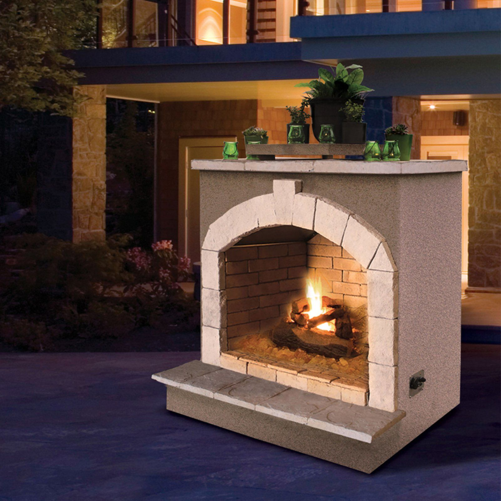 Cal Flame Two Tone Outdoor Fireplace Cal Flame Backyard Outdoor