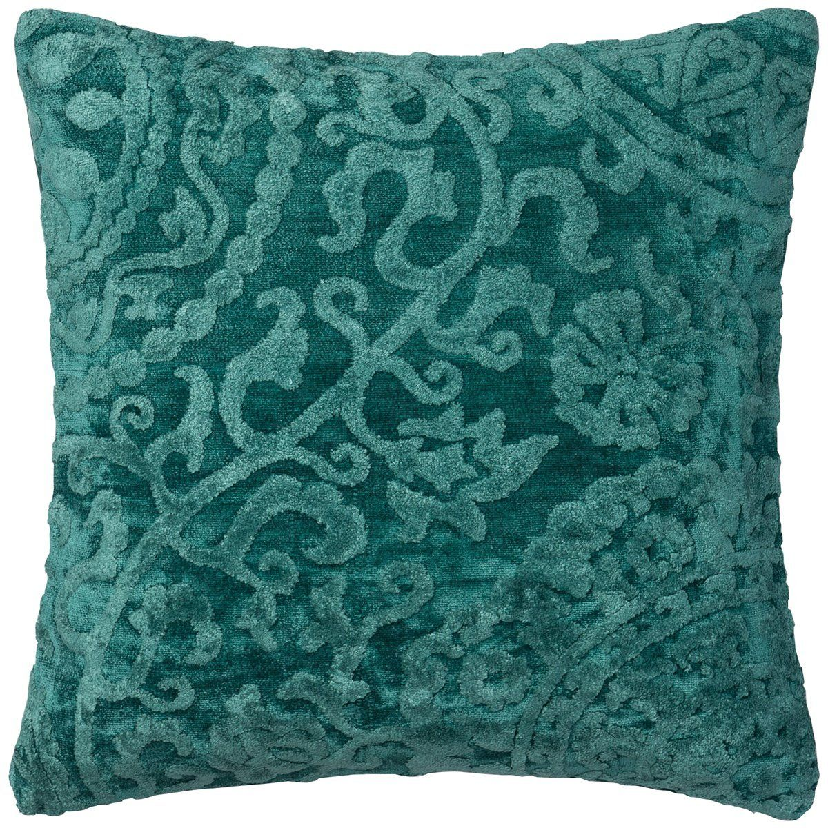 The Pillow Collection Cenobia Floral Jade Down Filled Throw Pillow