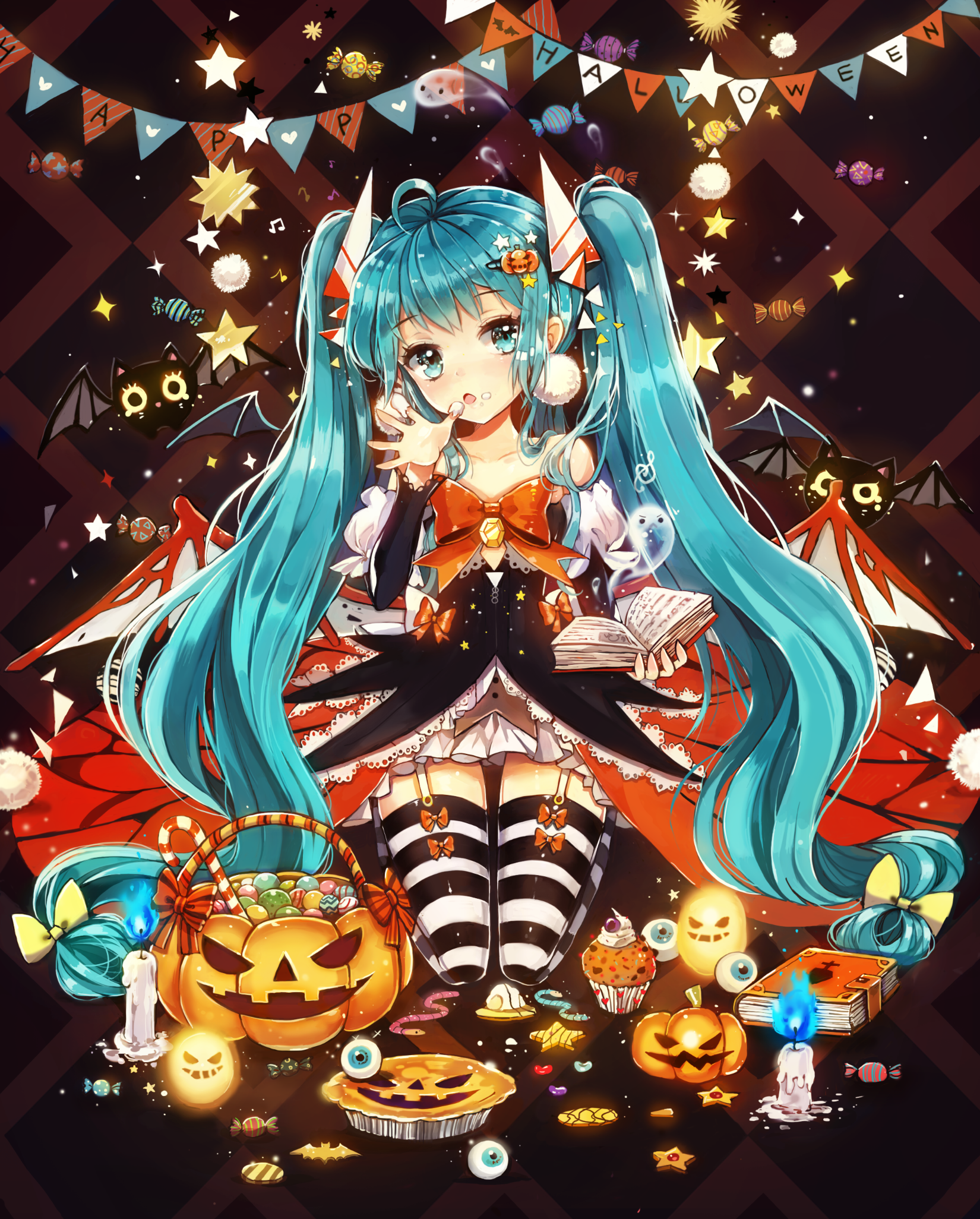 Halloween Miku ☆ | Anime | Pinterest | Hatsune miku, Vocaloid and ...