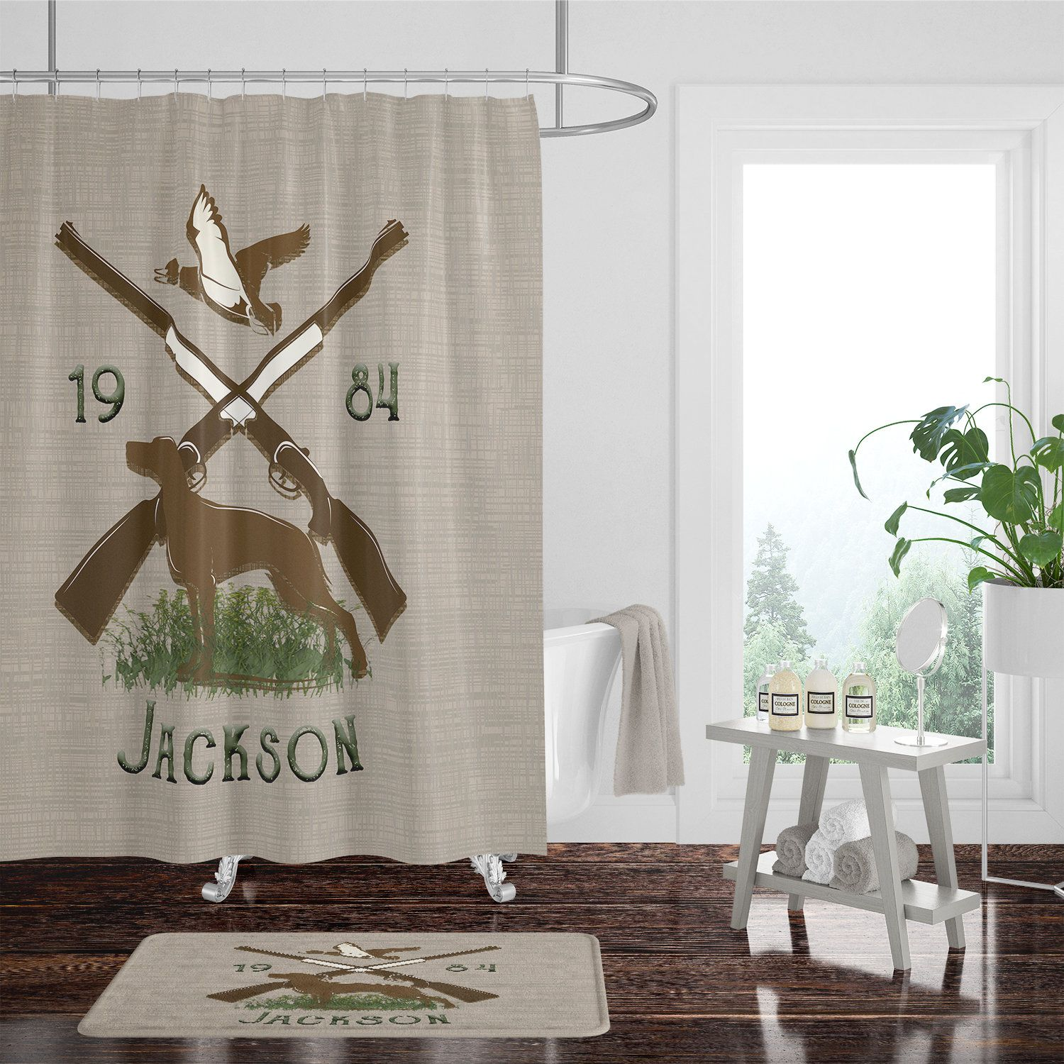 Cottage Shower Curtain Personalized Rustic Hunting Cabin Shower Curtain Cottage Shower