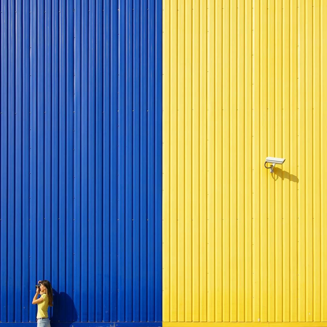 Colorful and geometric buildings of Istanbul seen by Yener Torun
