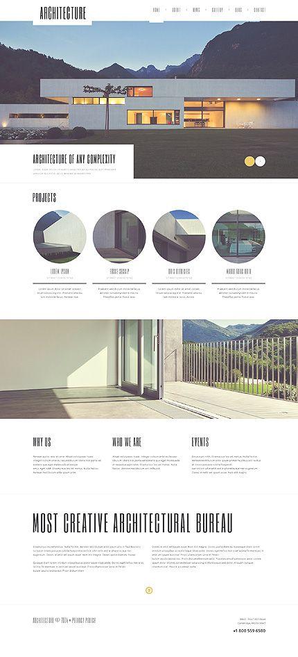 Responsives WordPress Theme für Baufirma | Portafolio, Arquitectura ...