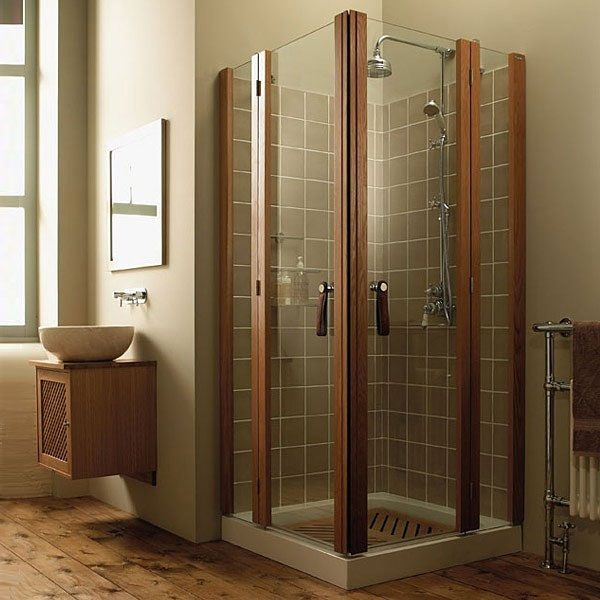 51 large corner shower units
