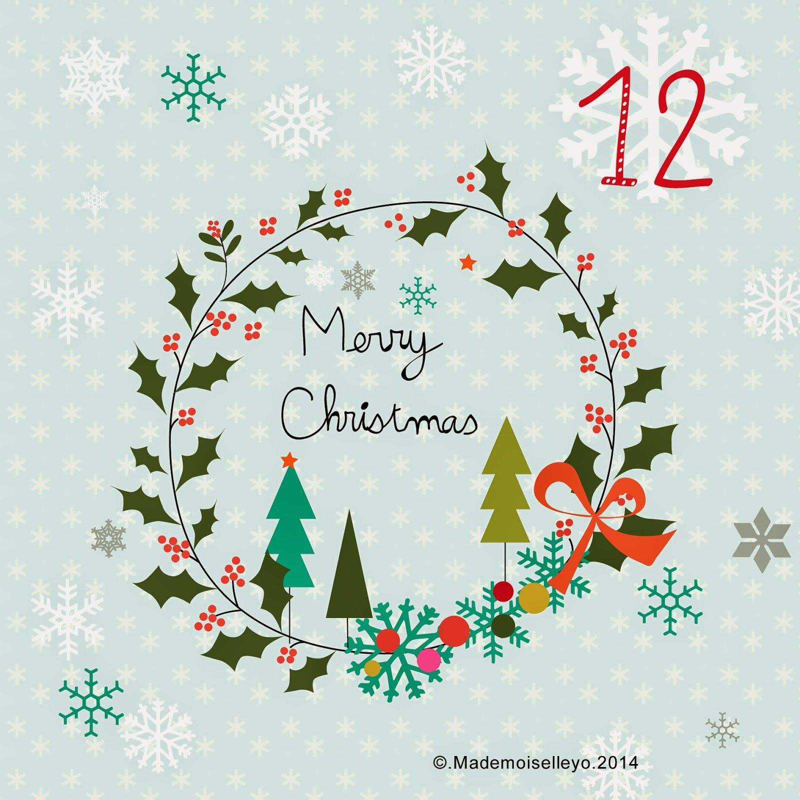 Mademoiselleyo Advent Calendar 12 13 14 Christmas DesignWinter ChristmasChristmas HolidayChristmas DecorChristmas IdeasChristmas ClipartChristmas