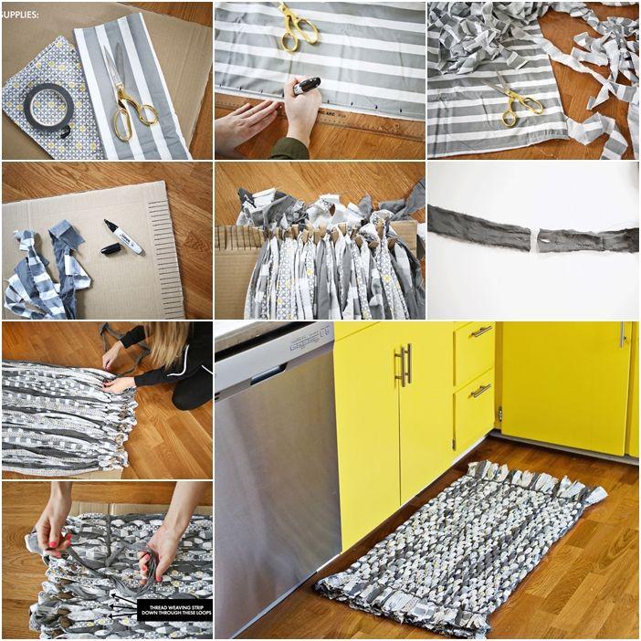 How To Diy Woven Rag Rug With Cardboard Diy Tutorials Rag Rug Rugs Diy