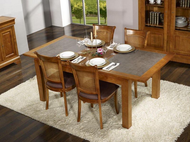 table de repas aurore réalisée en merisier massif contemporaine
