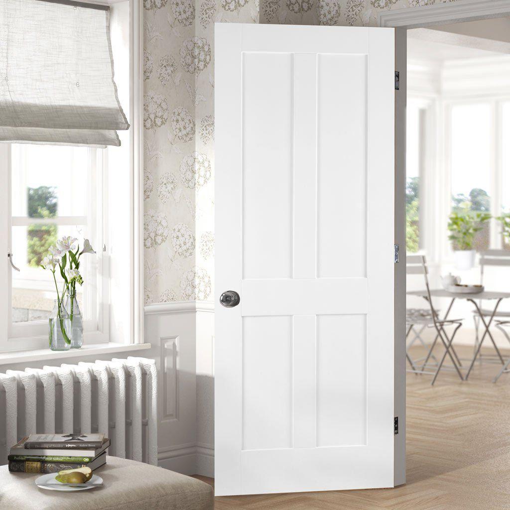Internal White Primed Shaker 4 Panel Door Brand New. Various Sizes