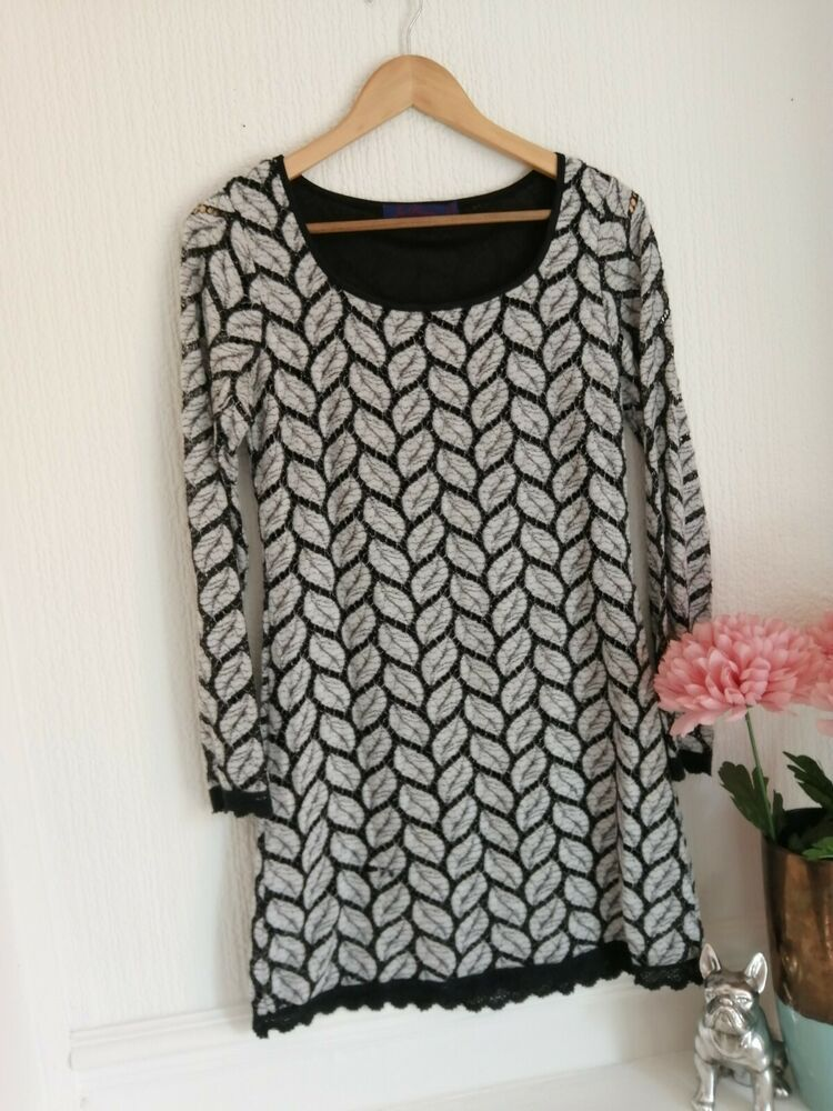 b0af15cbd56 (Advertisement)eBay- Ladies Joe Browns Light Grey Leaf Print Longsleeve  Tunic Top Size