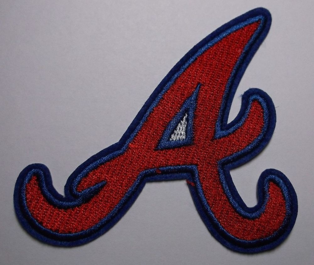 Atlanta Braves A Embroidered Patch 3 1 2 X 3 1 4 Iron Sew On Mlb Ships Free Atlantabraves Embroidered Patches Atlanta Braves Braves