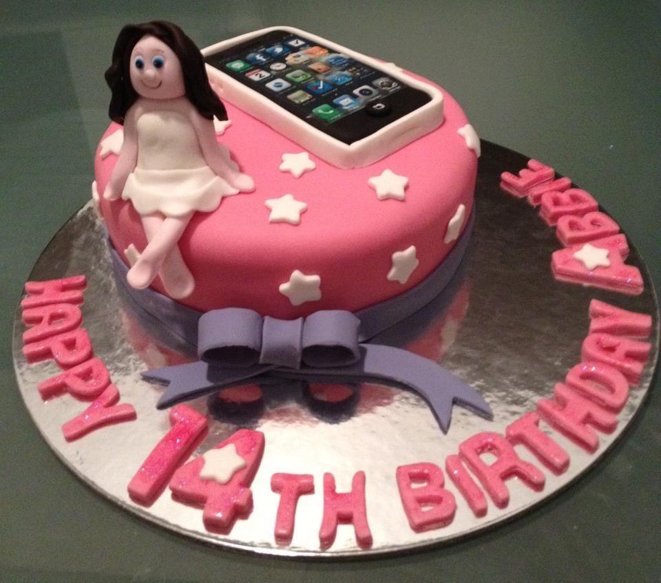 Teenager girl birthday cake. Personalised cake