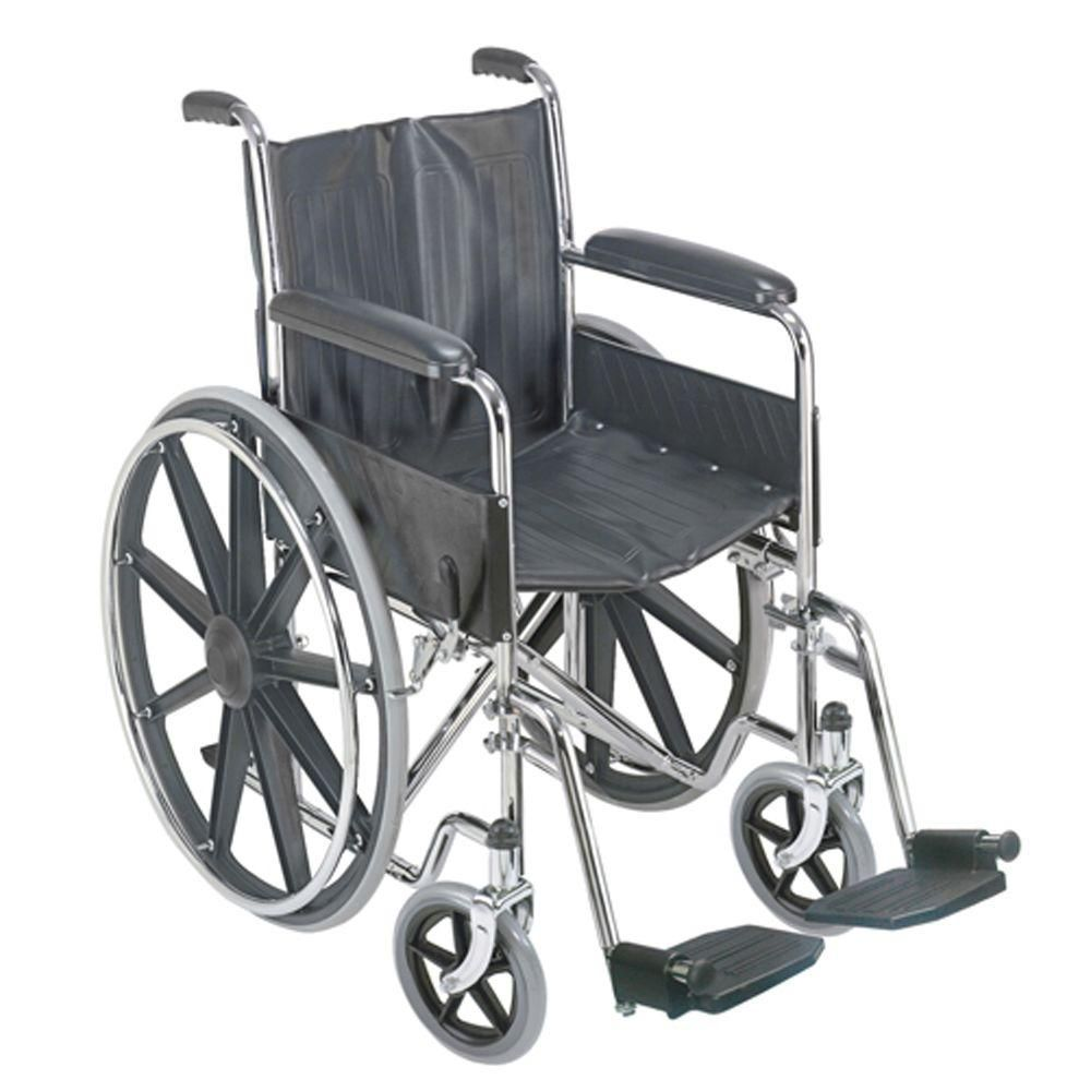 DMI Manual Wheelchair with Fixed Arm Rests