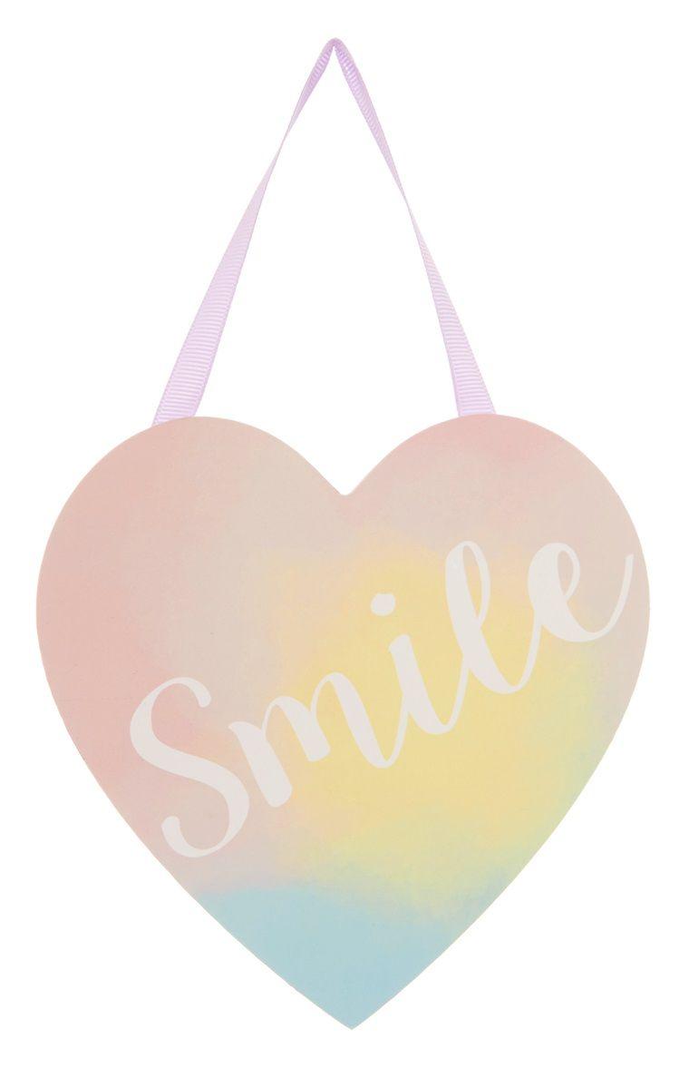 bedroom wall plaques. Primark - Smile Heart Hanging Wall Plaque Bedroom Plaques
