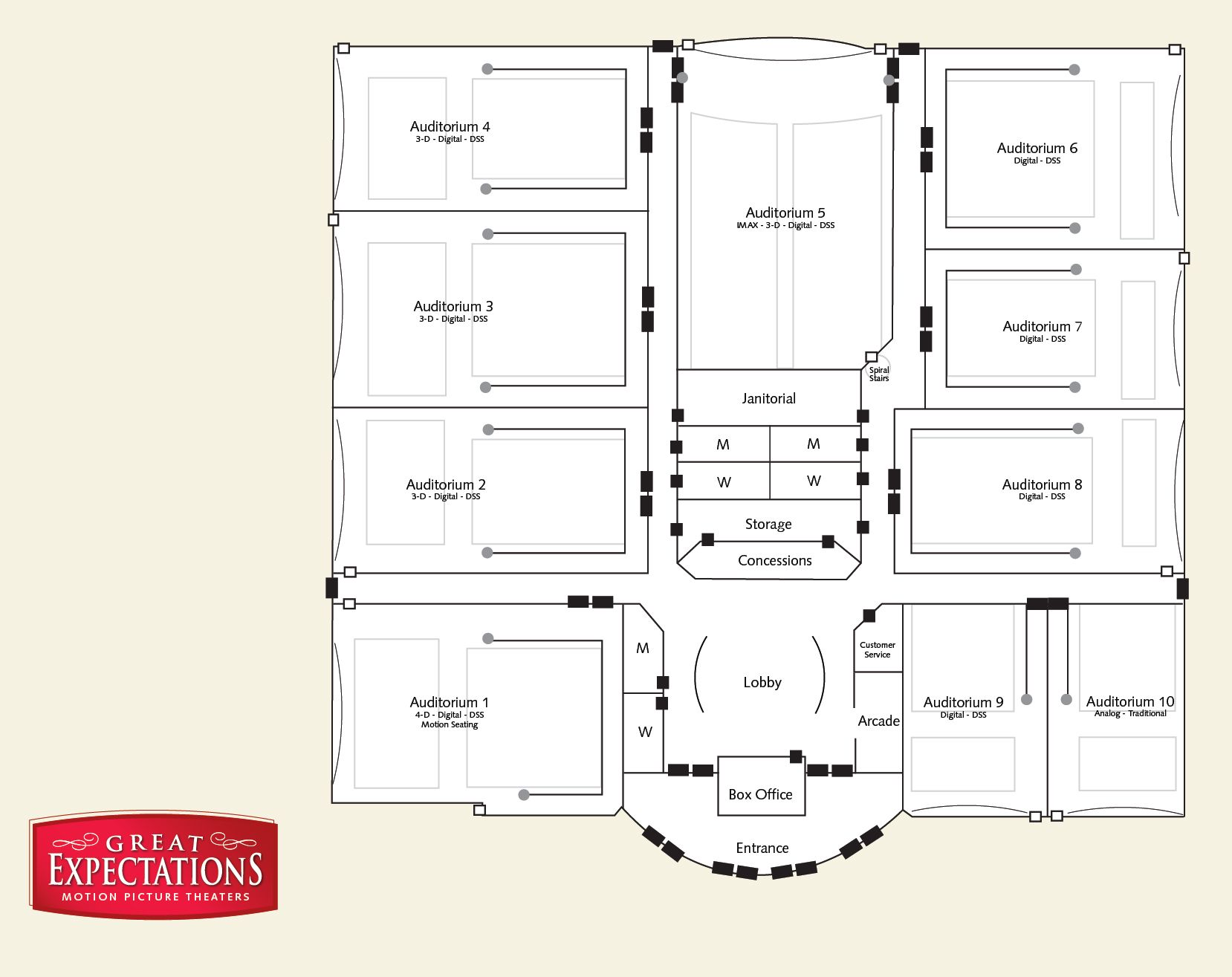 Movie Theater Floorplan Omaha Architecture Movie
