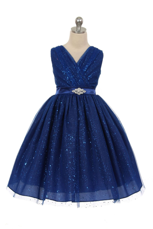 Blue Sparkly Dresses for Girls