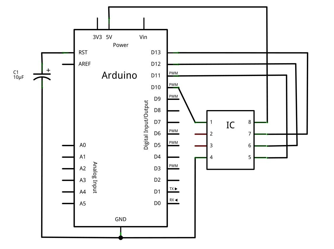 arduino schematic this simple schematic will be used as a first wiring project  [ 1144 x 855 Pixel ]