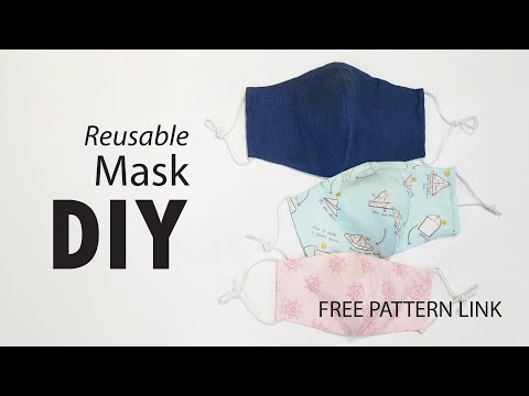 19 Reusable Mask Diy Interchangeable Filter By Ithinksew