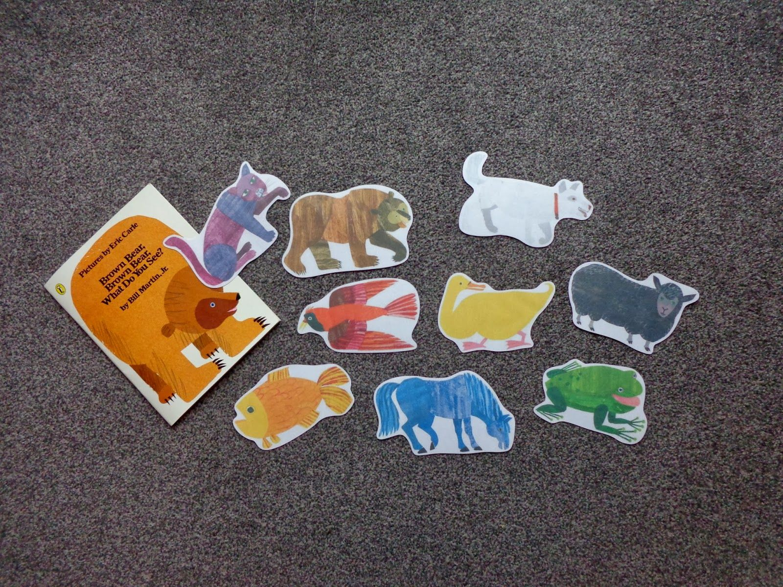 Brown Bear Brown Bear What Do You See Printables For Felt